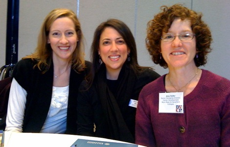 photo of Sharon Powers, Jennifer Barr, and Amy Feifer, of the Bi-College Career Development Office