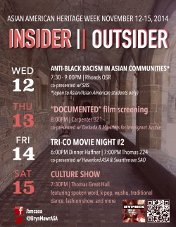Asian American Heritage Week 2014 event schedule